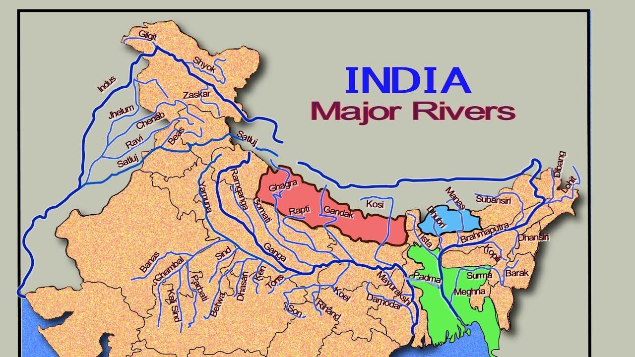 Cartina Dell India Del Nord.Dell India Del Nord E Fiumi Mappa India Del Nord Fiume Mappa Sud Est Asiatico Asia