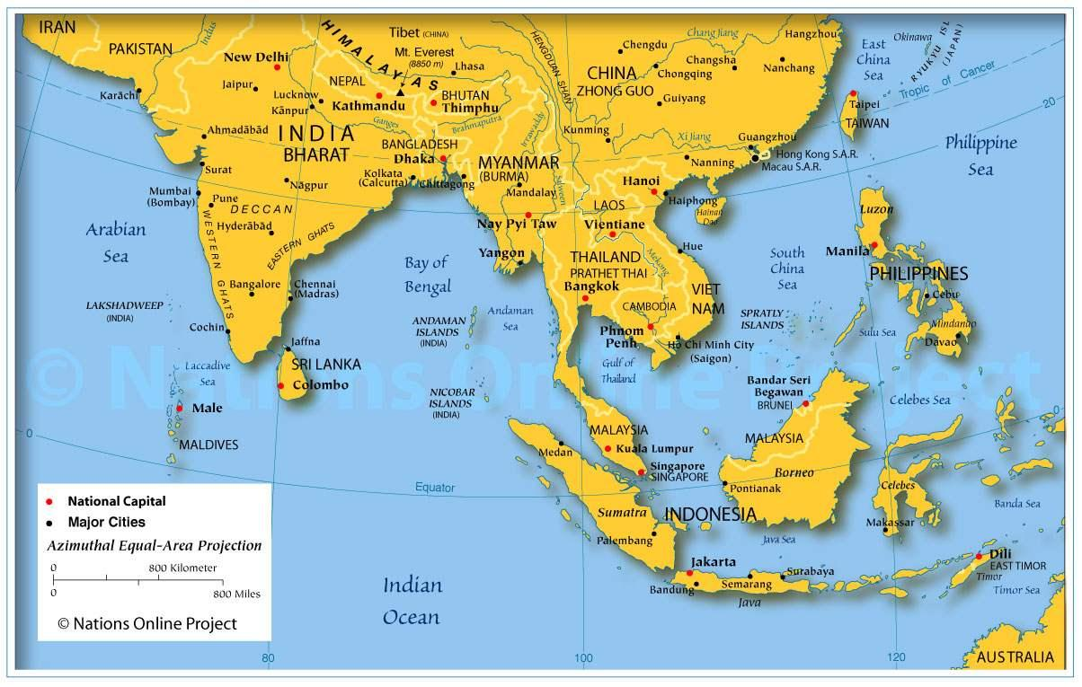 Cartina Muta Del Subcontinente Indiano.Subcontinente Indiano Sulla Mappa Mappa Del Subcontinente Indiano Sud Est Asiatico Asia