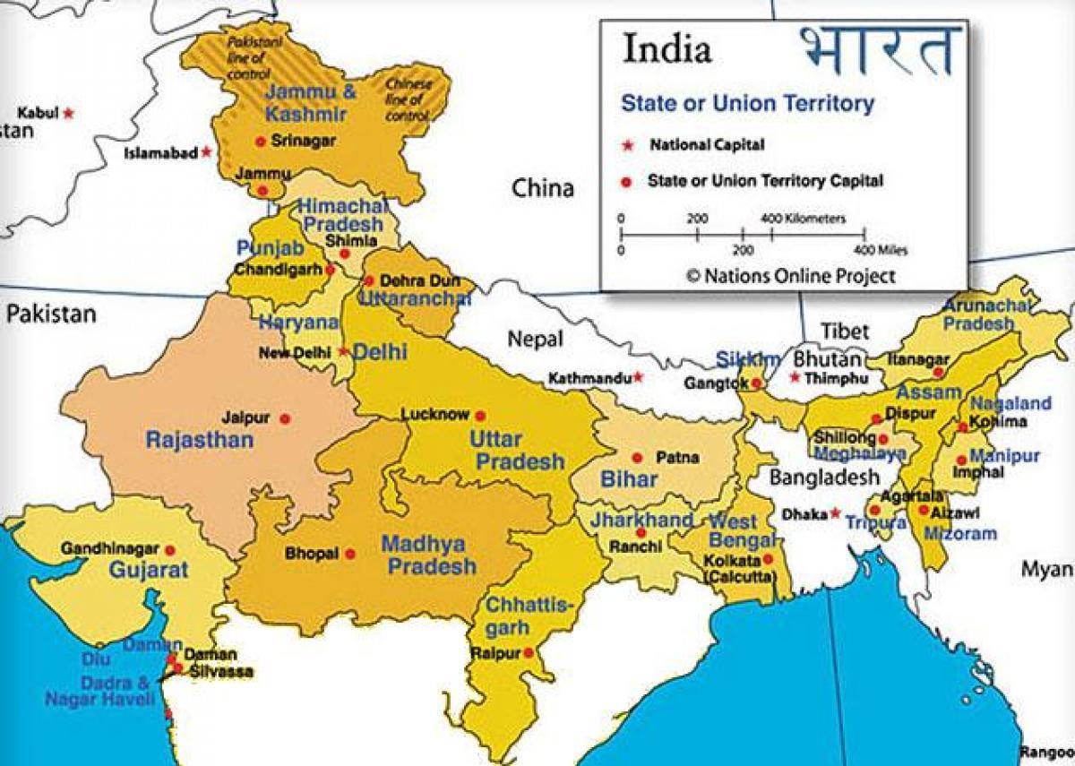 India Del Nord Cartina.Dell India Del Nord Mappa Cartina Dell India Del Nord Sud Est Asiatico Asia