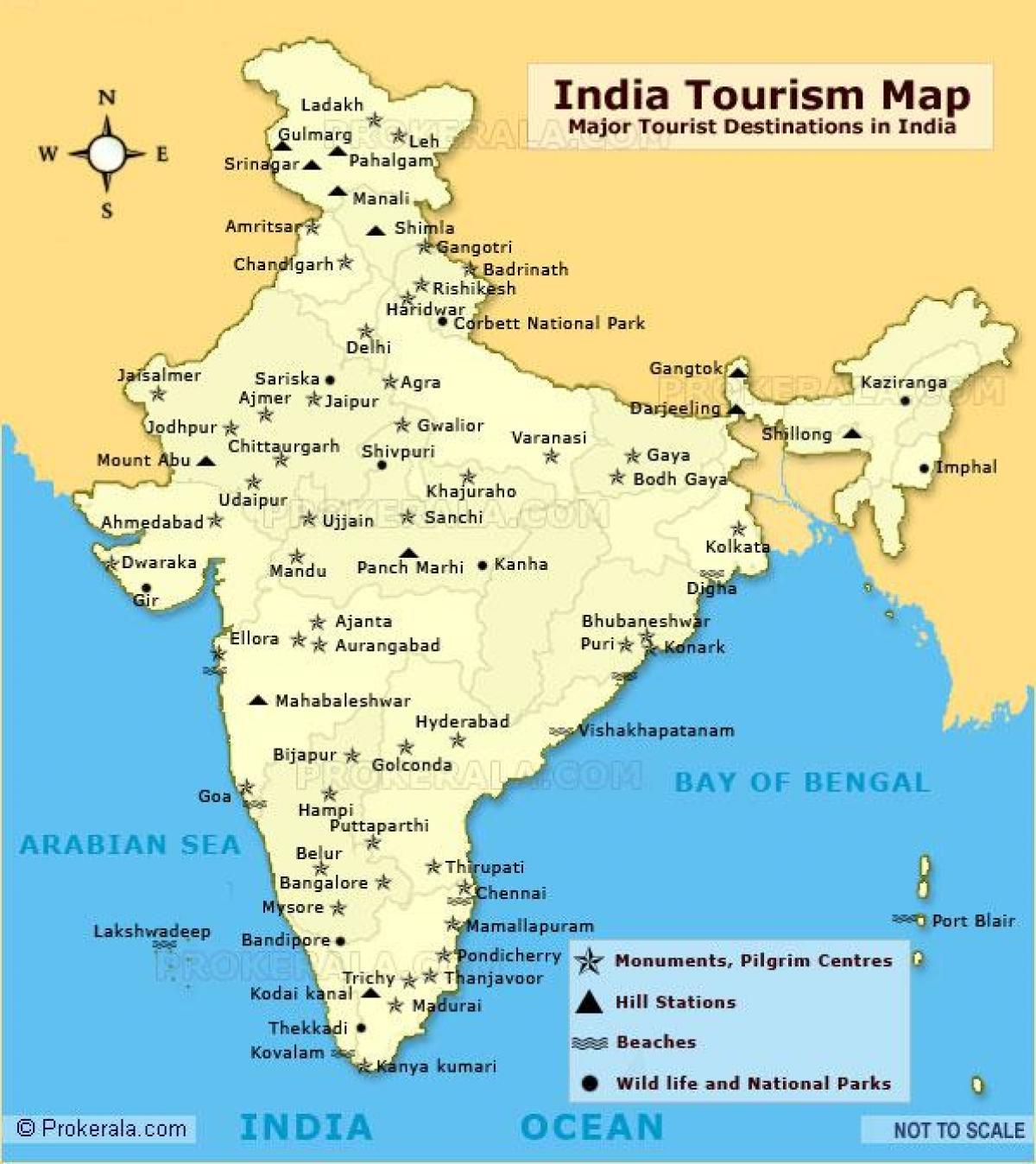 India Del Nord Cartina.India Del Nord Mappa Con Luoghi Turistici Mappa Dell India Del Nord Localita Turistiche Sud Est Asiatico Asia