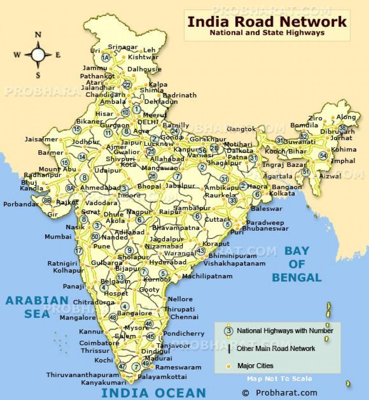 Cartina India Del Nord.India Del Nord Mappa Stradale Mappa Stradale Di India Del Nord Sud Est Asiatico Asia