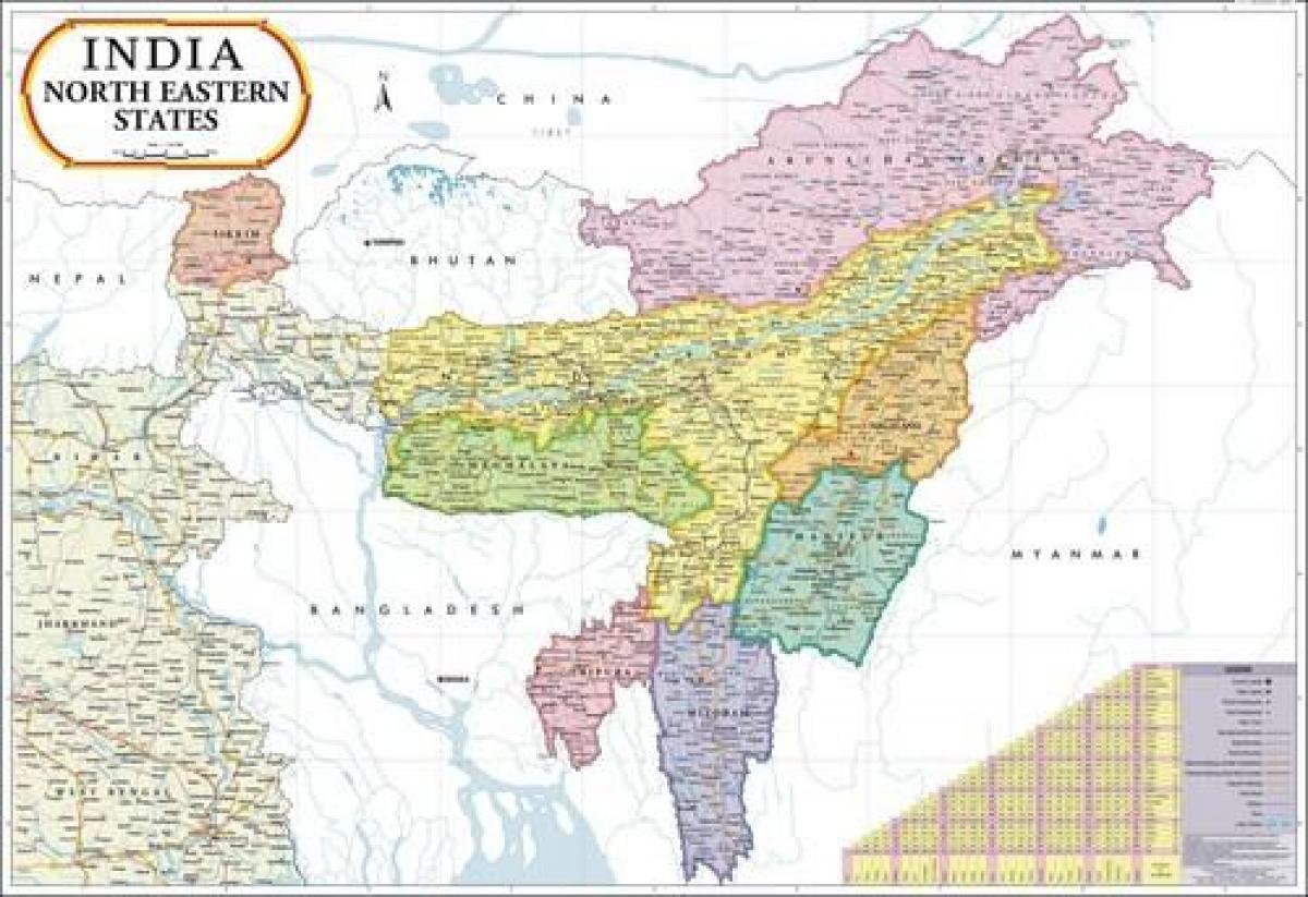 Cartina Dell India Del Nord.Mappa Di Nord Est Dell India India Nord Orientale Della Mappa Sud Est Asiatico Asia