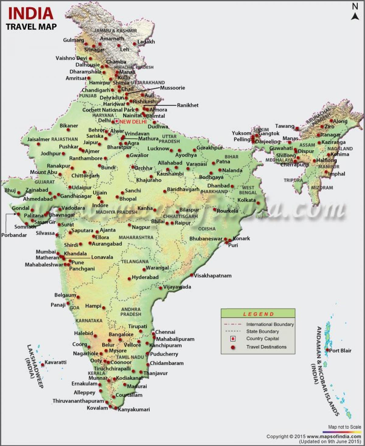 Cartina Dell India Del Nord.Mappa Turistica Dell India Nord India Del Nord Mappa Turistica Sud Est Asiatico Asia