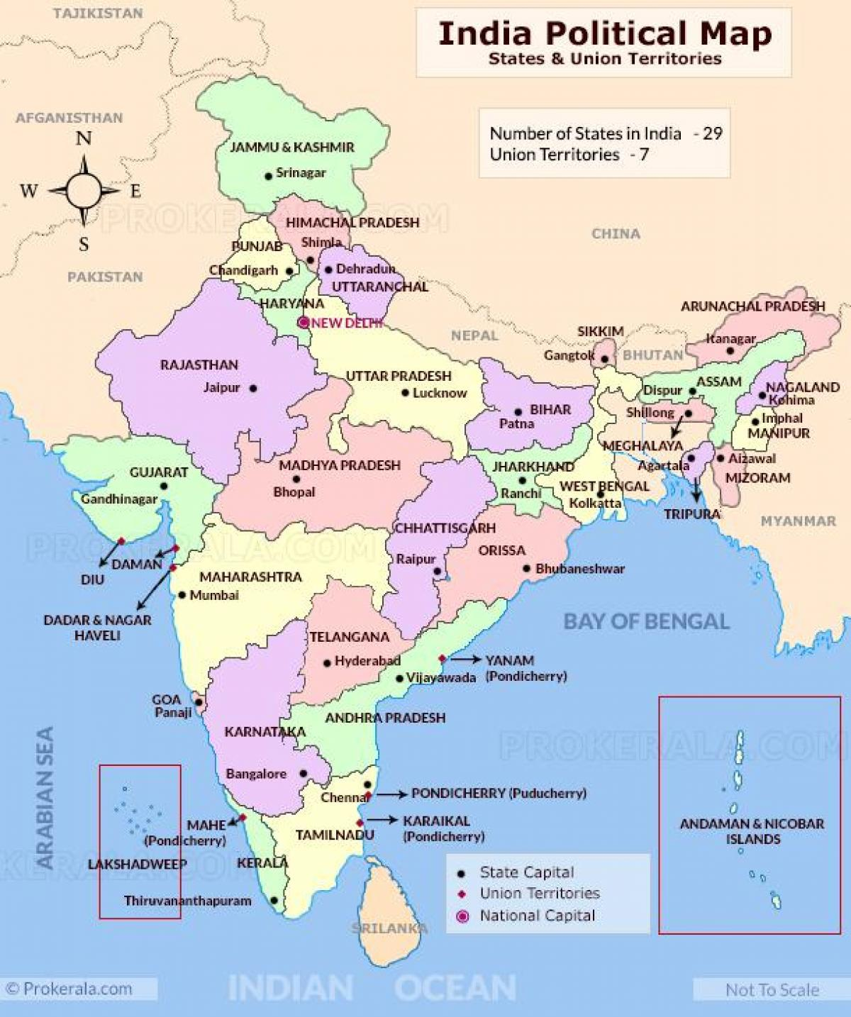 Cartina Dell India Politica.Stati Dell India Sulla Mappa Politica Cartina Politica Dell India Stati L Asia Del Sud Asia